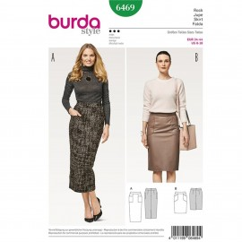 Narrow Skirt – Pencil Skirt – Shaped Waistband Burda Sewing Pattern N°6469