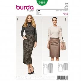 Patron Jupe étroite – jupe crayon –ceinture en forme Burda N°6469