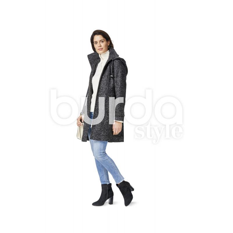 Jacket With Detachable Hood Waistcoat Vest Short Petite Sizes Burda Sewing Pattern N 6486