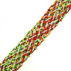 Braided strap Niamey - multi red x 50cm