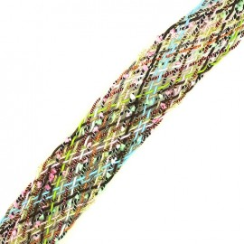 Braided strap Niamey - multi burgundy x 50cm