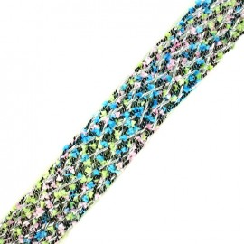 Braided strap Niamey - multi blue x 50cm