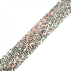 Braided strap Niamey - multi pink x 50cm