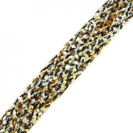 Braided strap Niamey - multi brown x 50cm