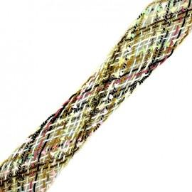Braided strap Niamey - multi gold x 50cm