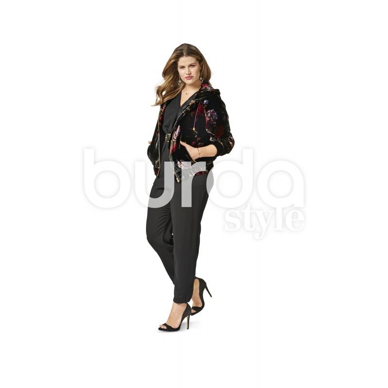 Jacket Blouson Hood Rib Band Burda Sewing Pattern N 6489