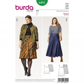 Flared Skirt – Bell-shaped – Shaped Waistband Burda Sewing Pattern N°6491