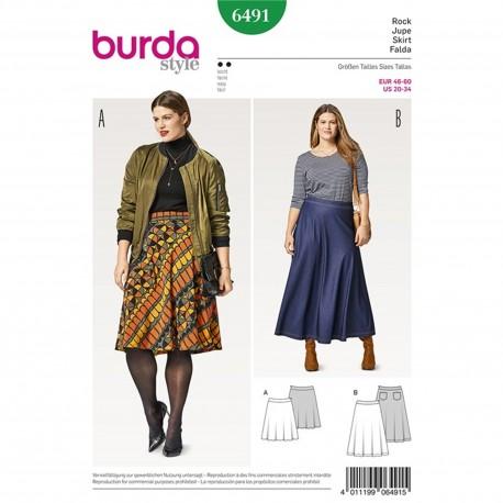 Flared Skirt – Bell-shaped – Shaped Waistband Burda Sewing Pattern N°6491