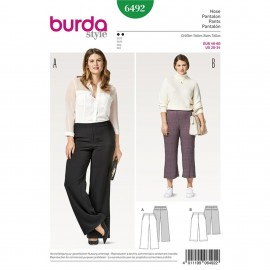 Trousers/Pants – 3/4 Trousers/Pants – Back Elastic Waist – Back Yoke with Pockets in Seams Burda Sewing Pattern N°6492