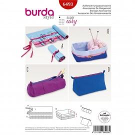 Patron Accessoires de rangement – sac à outils roulé – boîte – trousses N°6493