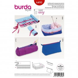 Storage Accessories – Roll-up Organizer – Box – Zip Case Burda Sewing Pattern N°6493