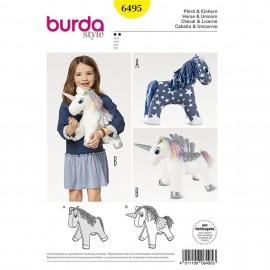 Patron Cheval – licorne – peluche Burda N°6495