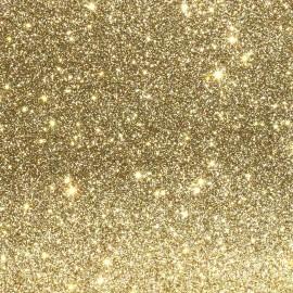 Glitter fabric Fiesta 140cm - light gold x10cm