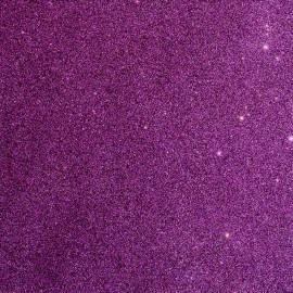 Tissu glitter Fiesta 140cm - violet foncé x 10cm