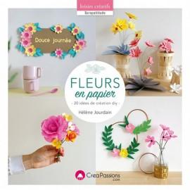 """Livre """"Fleurs en papier 20 idées de création DIY"""""""