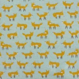Kokka Coated Cotton Fabric Anika World Cat - sky blue x 10 cm