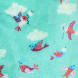 Tissu Doudou Fly away - bleu clair x 20cm