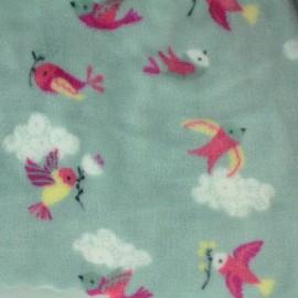 Tissu Doudou Fly away - gris x 20cm