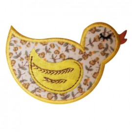 Motif à thermocoller grand canard jaune