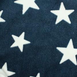 Tissu Doudou A starry night sky - bleu foncé x 10cm