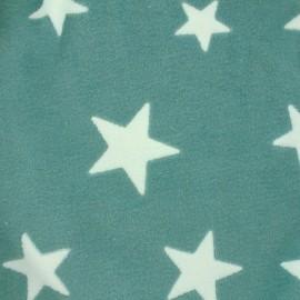 ♥ Coupon tissu 20 cm X 140 cm ♥ Tissu Doudou A starry night sky - vert