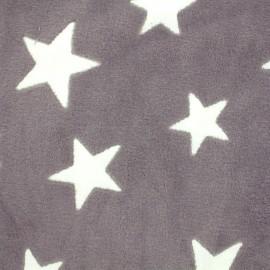 ♥ Coupon tissu 20 cm X 140 cm ♥ Tissu Doudou A starry night sky - taupe
