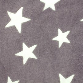 Tissu Doudou A starry night sky - taupe  x 10cm