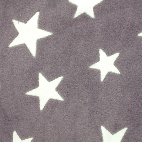 Tissu Doudou A starry night sky - taupe  x 10cm
