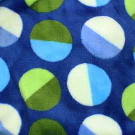 Tissu Doudou Circle - bleu x 10cm