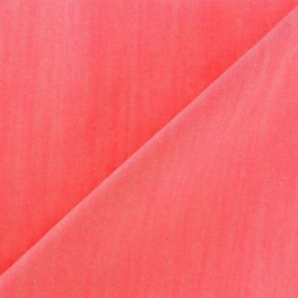Color jeans fabric - neon pink x 10cm