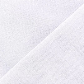 Oeko-Tex Wilmo stamen fabric - white x 10cm