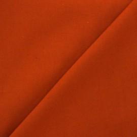 Tissu toile de coton uni Canevas Delson - orange corail x 10cm
