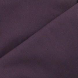 Tissu toile de coton uni Canevas Delson - aubergine x 10cm