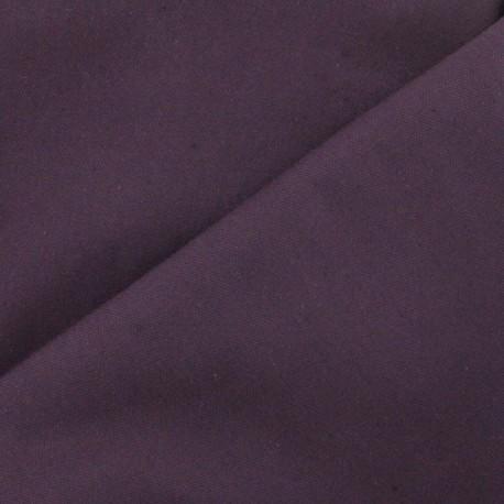 Cotton canvas fabric Delson -  eggplant x 10cm