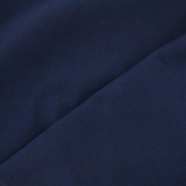 Tissu toile de coton uni Canevas Delson - bleu marine x 10cm