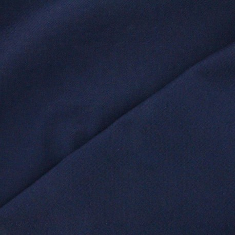 Cotton canvas fabric Delson -  marin blue x 10cm