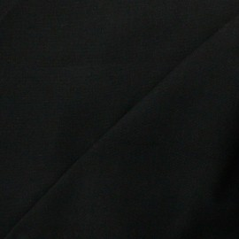 Tissu toile de coton uni Canevas Delson - noir x 10cm