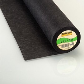 ♥ Coupon 20 cm X 90 cm ♥  L11/310 Vieseline light to sew canvas covering - charcoal