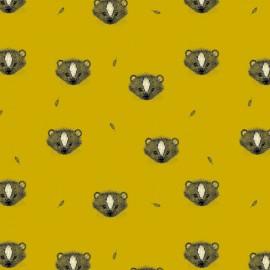 Tissu Bio Jersey Skunk - jaune x 10cm