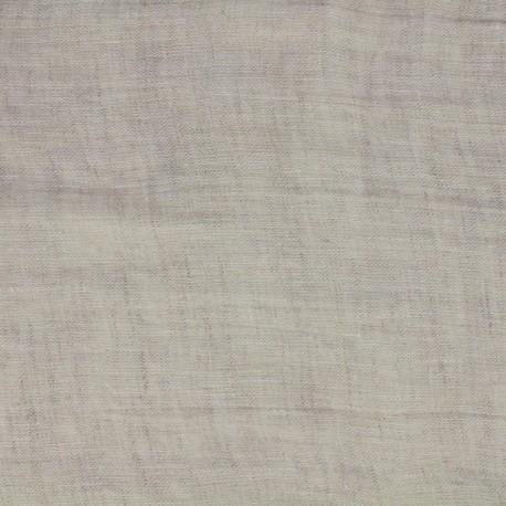 Mousselino linen canvas Fabric - linen x 10cm