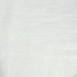 Tissu toile lin Mousselino - blanc x 10cm