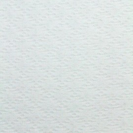 Stitched cotton fabric Jacqueline - white x 10cm