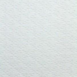 Tissu piqué de coton Jacqueline - blanc x 10cm