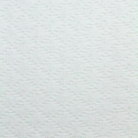 Stitched cotton fabric Jacqueline - white x 10cm