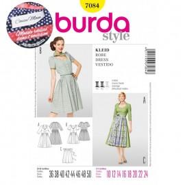 Patron Cousu Main Robe Burda n°7084 - Saison 3