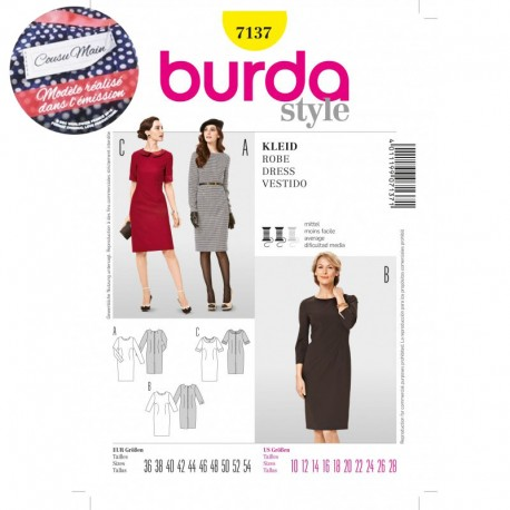 Sewing pattern Cousu Main Dress Burda n°7137