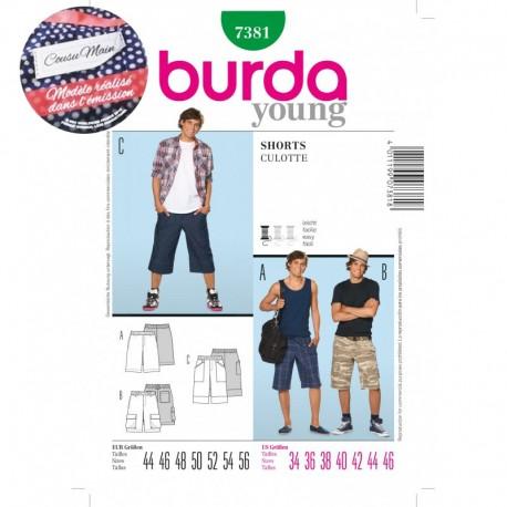 Patron Short Burda n°7381