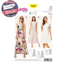 Sewing Pattern Dress Cousu Main Burda n°6628