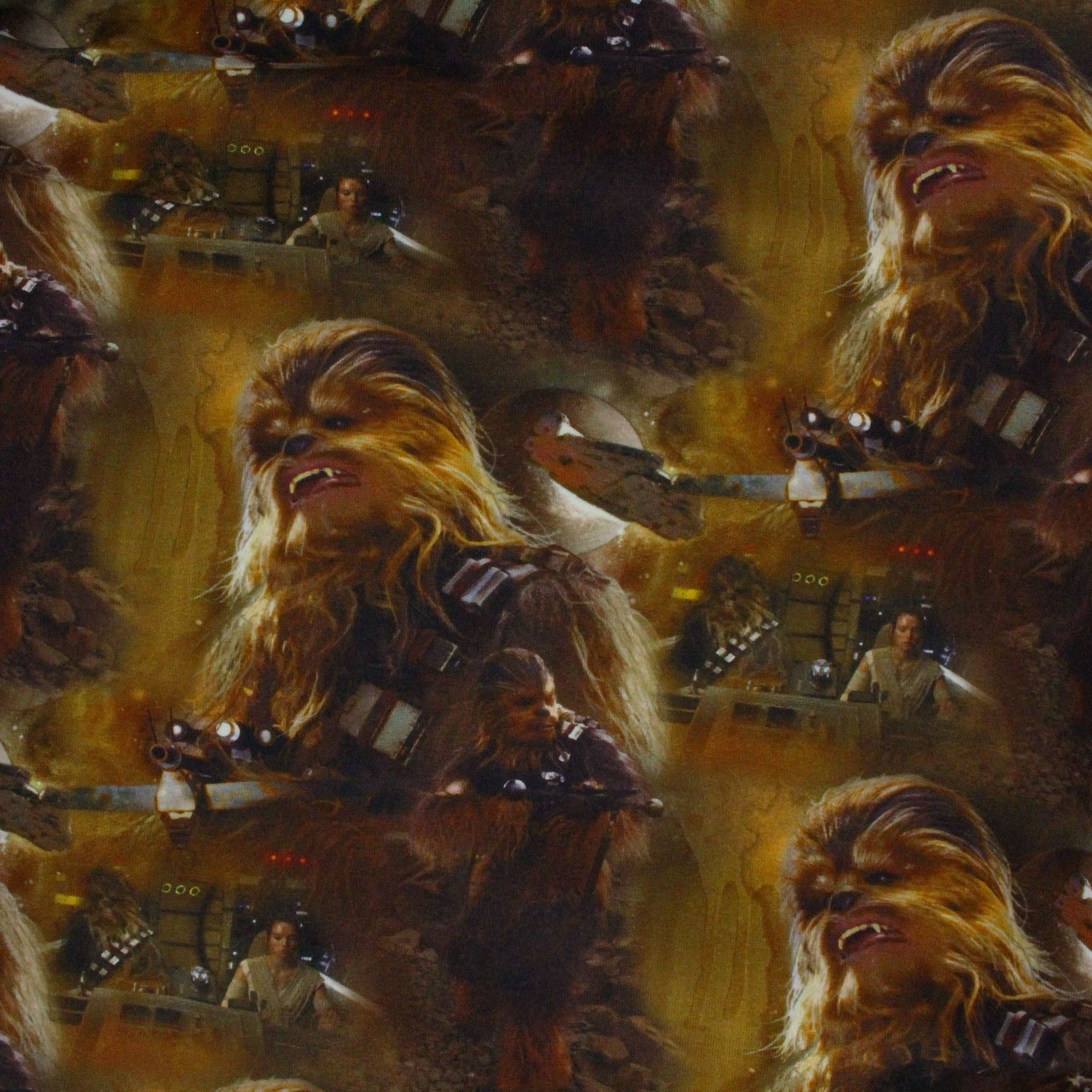 054bba276e6 Jersey fabric Chewbacca Star Wars - brown