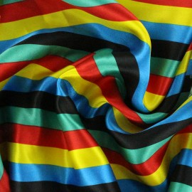 Crazy stripes fabric - multi x 10cm